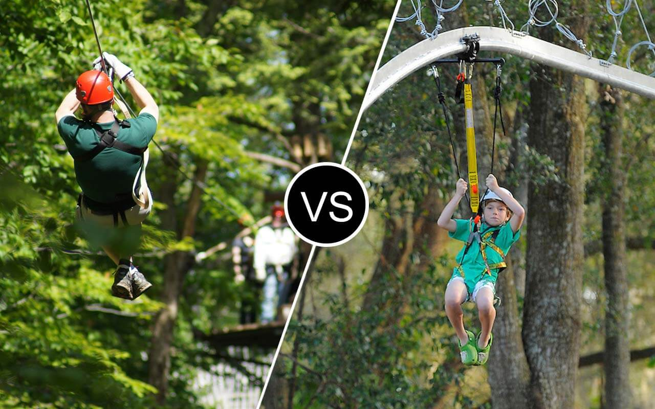 zip line vs zip ride